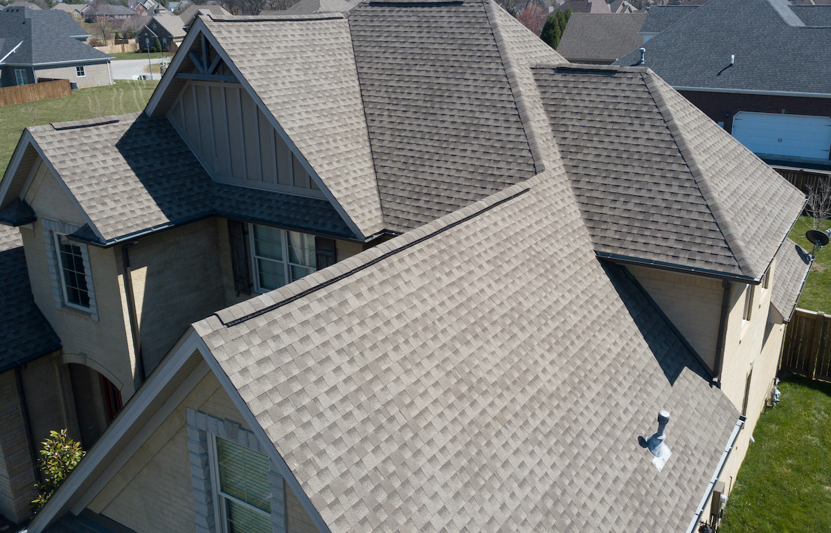 Cypress, TX roofing picture taken after roof inspection
