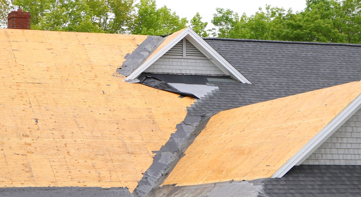 Progress of Sugar Land roof replacement before a hurricane