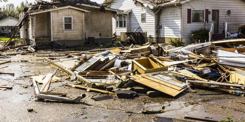 Tornado roof damage is a cause for concern in Houston.