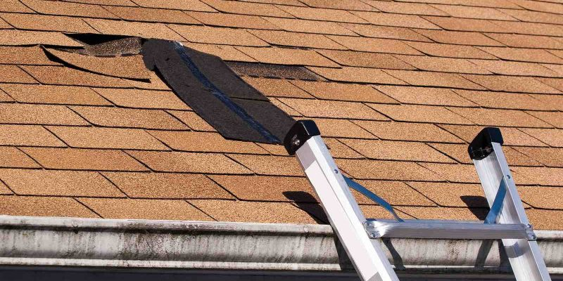 Damaged Roof Shingles Repair Houston.