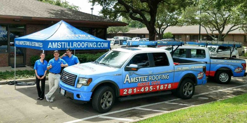 Amstill Roofing in Houston for roof repairs and roof replacement.