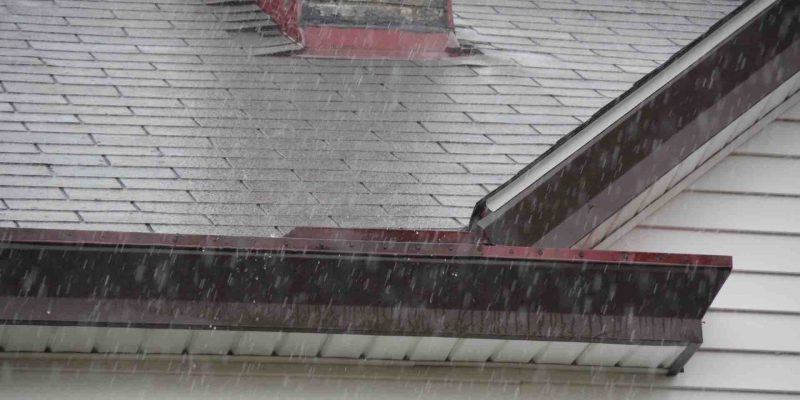 Rain and storm damage to roof in Houston. Get a roof replacement or roof repairs from Amstill.