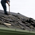roof replacement on aging roof by Amstill Roofing in West Houston